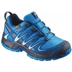 Salomon XA Pro 3D CSWP J hawaiian surf/mykonos blue 398498 dětské nízké nepromokavé boty