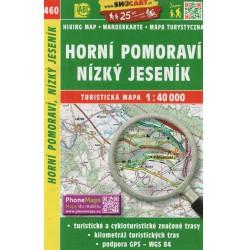 SHOCart 460 Horní Pomoraví, Nízký Jeseník 1:40 000 turistická mapa