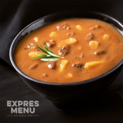 Expres Menu Gulášová polévka 660 g 2 porce sterilované jídlo na cesty