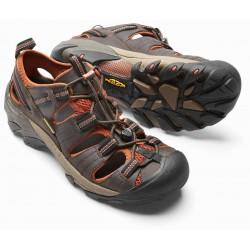 Keen Arroyo II M black olive/bombay brown pánské kožené outdoorové sandály