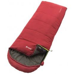 Outwell Campion Lux red třísezónní dekový spací pytel Isofill