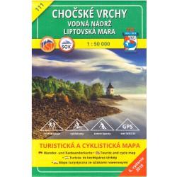 VKÚ 111 Chočské vrchy 1:50 000 turistická mapa