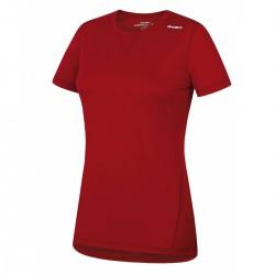 Husky Merino 100 Short Sleeve L červená dámské triko krátký rukáv Merino vlna