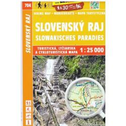 SHOCart 704 Slovenský raj 1:25 000 turistická mapa