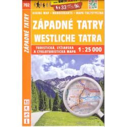 SHOCart 702 Západné Tatry 1:25 000 turistická mapa