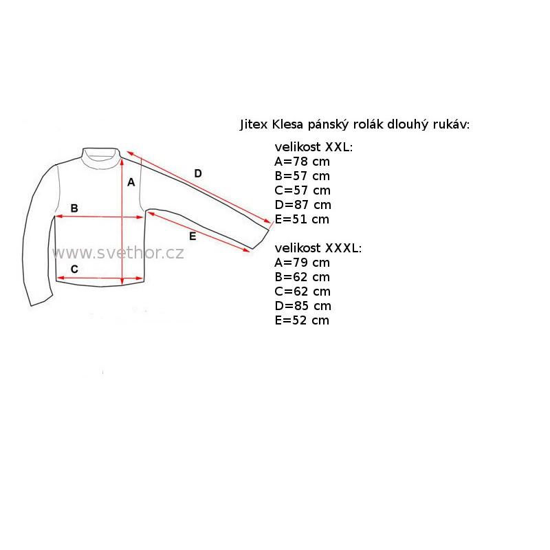 Jitex Kles 930 THS modrošedá pánské triko rolák dlouhý rukáv Merino vlna 914c380a7d