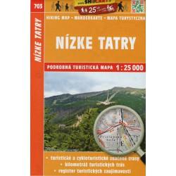 SHOCart 703 Nízke Tatry 1:25 000 turistická mapa