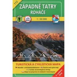 VKÚ 112 Západné Tatry, Roháče 1:50 000 turistická mapa