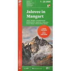 Geodetski Jalovec in Mangart 1:25 000 turistická mapa