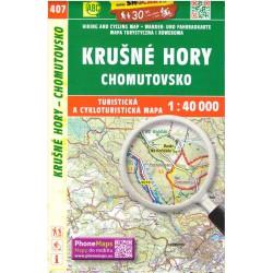 SHOCart 407 Krušné hory, Chomutovsko 1:40 000 turistická mapa