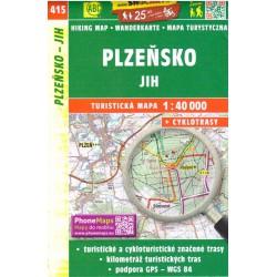 SHOCart 415 Plzeňsko jih 1:40 000 turistická mapa