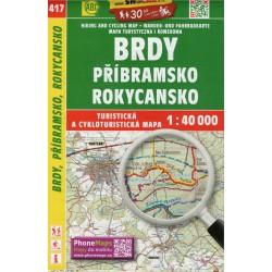 SHOCart 417 Brdy, Příbramsko, Rokycansko 1:40 000 turistická mapa