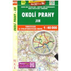 SHOCart 419 Okolí Prahy jih 1:40 000 turistická mapa