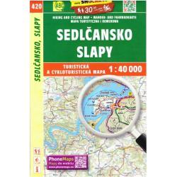 SHOCart 420 Sedlčansko, Slapy 1:40 000 turistická mapa