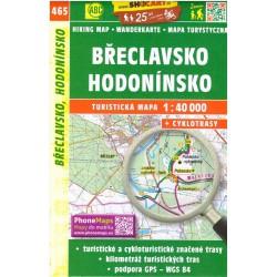 SHOCart 465 Břeclavsko, Hodonínsko 1:40 000 turistická mapa