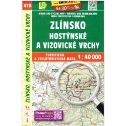 SHOCart 470 Zlínsko, Hostýnské a Vizovické vrchy 1:40 000 turistická mapa