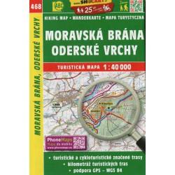 SHOCart 468 Moravská brána, Oderské vrchy 1:40 000 turistická mapa