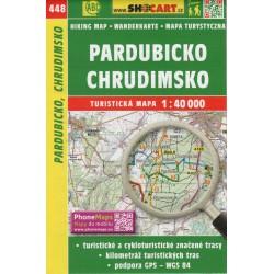 SHOCart 448 Pardubicko, Chrudimsko 1:40 000 turistická mapa