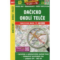 SHOCart 447 Dačicko, Okolí Telče 1:40 000 turistická mapa