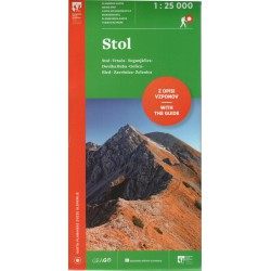 Geodetski Stol 1:25 000 turistická mapa