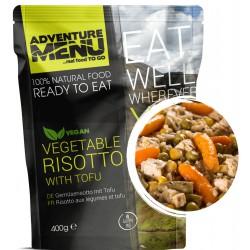 Adventure Menu Zeleninové rizoto s tofu 1 porce 400 g sterilované jídlo na cesty