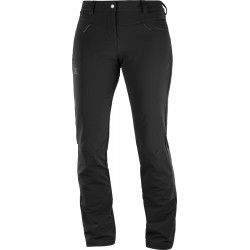 Salomon Wayfarer Straight Warm Pant W black 403751 dámské turistické kalhoty