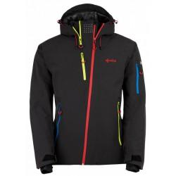 Kilpi Asimetrix-M černá pánská nepromokavá zimní lyžařská bunda