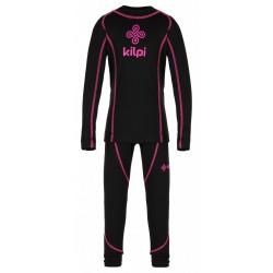 Kilpi Takaset-JG černá dětské termoprádlo set triko dlouhý rukáv + spodky