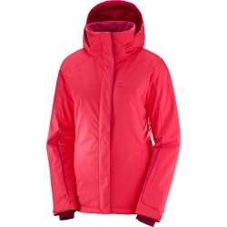 Salomon Stormpunch Jacket W Hibiscus 404446 dámská nepromokavá zimní lyžařská bunda