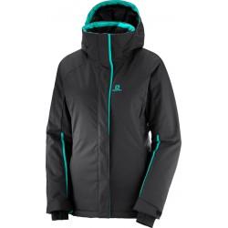 Salomon Stormpunch Jacket W Black 404444 dámská nepromokavá zimní lyžařská bunda