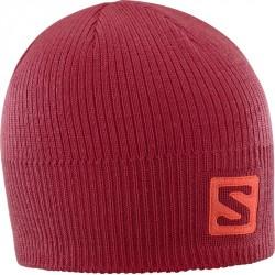 92f1a343e34 Salomon Logo Beanie Biking red 402847 unisex pletená čepice
