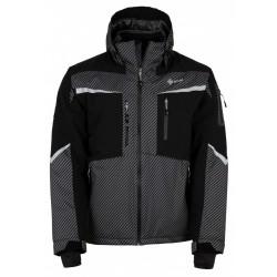 Kilpi Io-M tmavě šedá pánská nepromokavá zimní lyžařská bunda