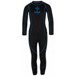 Kilpi Takaset-JB černá dětské termoprádlo set triko dlouhý rukáv + spodky