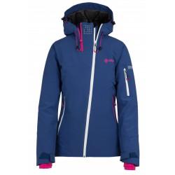 Kilpi Asimetrix-W tmavě modrá dámská nepromokavá zimní lyžařská bunda