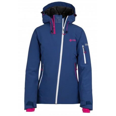 Kilpi Asimetrix-W tmavě modrá dámská nepromokavá zimní lyžařská bunda (1)