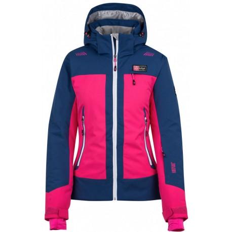 Kilpi Sawa-W růžová dámská nepromokavá zimní lyžařská bunda