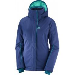 Salomon Stormpunch Jacket W medieval blue 404445 dámská nepromokavá zimní lyžařská bunda