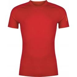 Zajo Bjorn Merino T-shirt SS Racing Red pánské triko krátký rukáv Merino vlna