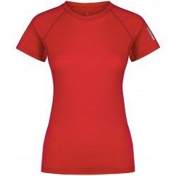 Zajo Elsa Merino W T-shirt SS racing red dámské triko krátký rukáv Merino vlna