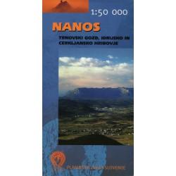 Geodetski Nanos 1:50 000 turistická mapa