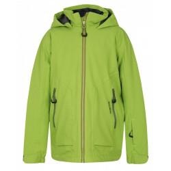 Husky Zengl Kids zelená dětská nepromokavá zimní lyžařská bunda HuskyTech Stretch 15000