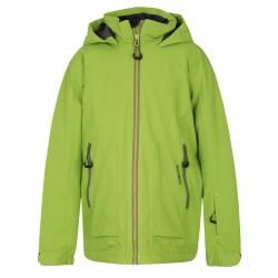 Husky Zengl Junior zelená dětská nepromokavá zimní lyžařská bunda HuskyTech Stretch 15000