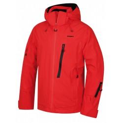 Husky Mayni M červená pánská nepromokavá zimní lyžařská bunda HuskyTech Stretch 20000