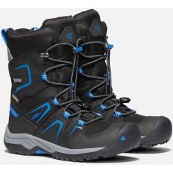 Keen Levo Winter WP Jr black/baleine blue dětské zimní nepromokavé boty