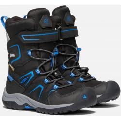 Keen Levo Winter WP K black/baleine blue dětské zimní nepromokavé boty
