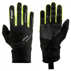R2 Blizzard ATR03E černá/neonově žlutá unisex softshellové rukavice