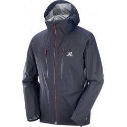Salomon Outspeed 3L JKT M graphite/night sky 400760 pánská nepromokavá bunda