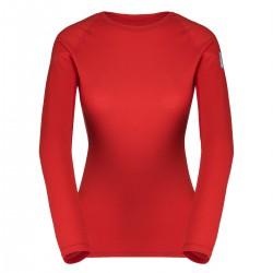 Zajo Elsa Merino W T-shirt LS racing red dámské triko krátký rukáv