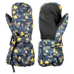 Relax Puzzyto RR17E černá/neonově žlutá dětské lyžařské palcové rukavice