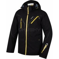 Husky Walmon černá pánská nepromokavá zimní lyžařská bunda